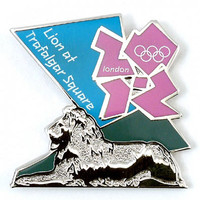 London 2012 Olympics Lion at Trafalgar Pin