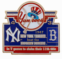 1947 World Series Commemorative Pin - Yankees vs. Dodgers