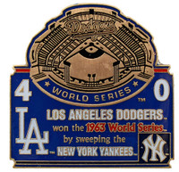 1963 World Series Commemorative Pin - Dodgers vs. Yankees