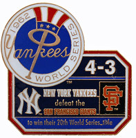 1962 World Series Commemorative Pin - Yankees vs. Giants