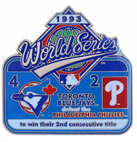 1993 World Series Commemorative Pin - Blue Jays vs. Phillies