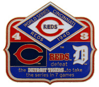 1940 World Series Commemorative Pin - Reds vs. Tigers