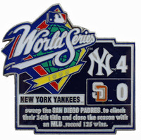 1998 World Series Commemorative Pin - Yankees vs. Padres