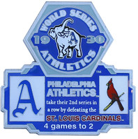 1930 World Series Commemorative Pin - Athletics vs. Cardinals
