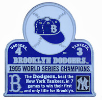 1955 World Series Commemorative Pin - Dodgers vs. Yankees