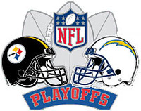 2008 NFL Playoffs Steelers vs. Chargers Pin