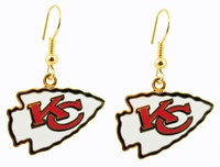 Kansas City Chiefs Earrings - Gold