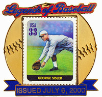 George Sisler Legend of Baseball Stamp Pin Oversized - Limited 2,000