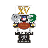 Super Bowl XV (15) Commemorative Dangler Pin - 50th Anniversary Edition