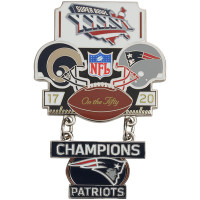 Super Bowl XXXVI (36) Commemorative Dangler Pin - 50th Anniversary Edition