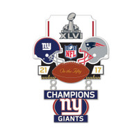 Super Bowl XLVI (46) Commemorative Dangler Pin - 50th Anniversary Edition