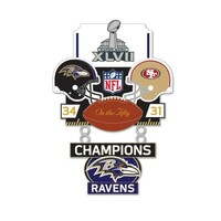 Super Bowl XLVII (47) Commemorative Dangler Pin - 50th Anniversary Edition
