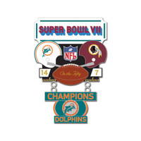 Super Bowl VII (7) Commemorative Dangler Pin - 50th Anniversary Edition