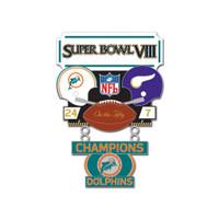 Super Bowl VIII (8) Commemorative Dangler Pin - 50th Anniversary Edition