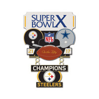 Super Bowl X (10) Commemorative Dangler Pin - 50th Anniversary Edition