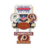 Super Bowl XVII (17) Commemorative Dangler Pin - 50th Anniversary Edition