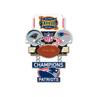 Super Bowl XXXVIII (38) Commemorative Dangler Pin - 50th Anniversary Edition