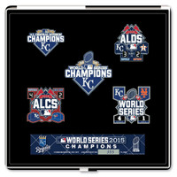Kansas City Royals 2015 World Series Champions Post Season Pin Set - Ltd 5,000