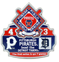 1909 World Series Commemorative Pin - Pirates vs. Tigers