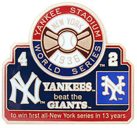 1936 World Series Commemorative Pin - Yankees vs. Giants