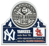 1943 World Series Commemorative Pin - Yankees vs. Cardinals
