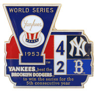 1953 World Series Commemorative Pin - Yankees vs. Dodgers