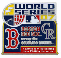 2007 World Series Commemorative Pin - Red Sox vs. Rockies