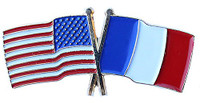 France & American Flag Pin