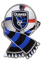 San Jose Earthquakes MLS Scarf Pin