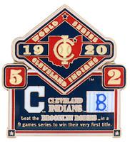 1920 World Series Commemorative Pin - Indians vs. Robins (Dodgers)