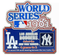 1981 World Series Commemorative Pin - Dodgers vs. Yankees