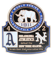 1911 World Series Commemorative Pin - Dodgers vs. Yankees