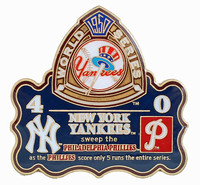 1950 World Series Commemorative Pin - Yankees vs. Phillies