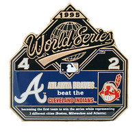 1995 World Series Commemorative Pin - Braves vs. Indians