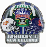 2016 Sugar Bowl Game Pin - Oklahoma State vs. Mississippi