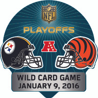 2016 NFL Wild Card Matchup Pin - Steelers vs. Bengals