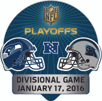 2016 NFL Playoffs Matchup Pin - Seahawks vs. Panthers