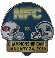 2016 NFC Championship Matchup Pin - Cardinals vs. Panthers