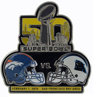 2016 Super Bowl L (50) Matchup Pin - Broncos vs. Panthers