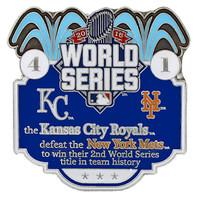 2015 World Series Commemorative Pin - Royals vs. Mets