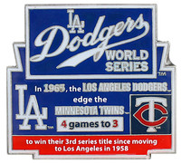 1965 World Series Commemorative Pin - Dodgers vs. Twins