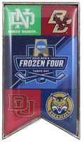 2016 Men's Frozen Four Dueling Teams Pin - Large 2""