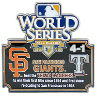 2010 World Series Commemorative Pin - Giants vs. Rangers
