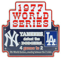 1977 World Series Commemorative Pin - Yankees vs. Dodgers