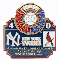 1928 World Series Commemorative Pin - Yankees vs. Cardinals