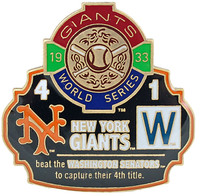 1933 World Series Commemorative Pin - Giants vs. Senators