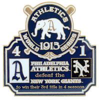 1913 World Series Commemorative Pin - Athletics vs. Giants