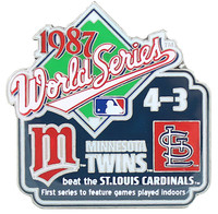 1987 World Series Commemorative Pin - Twins vs. Cardinals
