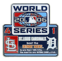 2006 World Series Commemorative Pin - Cardinals vs. Tigers