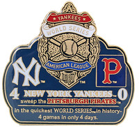 1927 World Series Commemorative Pin - Yankees vs. Pirates